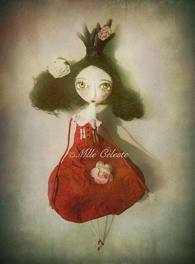 Papier mâché dolls poupées en papier mâché, paper mâche, ©Mlle Céleste