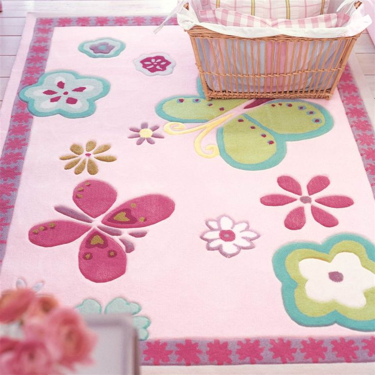 Your Elgin Flower Rug By Designers Guild Here Create A Wonderfully Y Atmosphere In Little S Bedroom With Designer