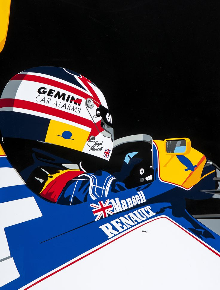 Mansell/Williams F1. Hand-cut vinyl motorsport art. More at www.joelclarkartist.carbonmade.com