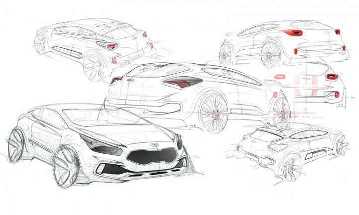 2013 Kia pro_cee'd GT: design sketch - Car Body Design