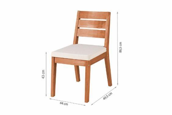 Cadeira Estofada Fortaleza (Kit com 2) - Jatobá