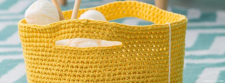 Pastel Pop - Panier crocheté