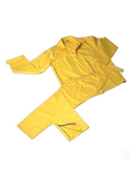 UNIFORMES:  Indispensáveis para a proteção adequada das brigadas, minimizando riscos. Uniforme para bombeiros florestais, oferece proteção antichamas, calor e respingo de materiais incandescentes, compostos de camisa de mangas longas e calça. Marca: Rota Uniforme de proteção para bombeiros florestais, confeccionado em brim Solasol (100% algodão) com tratamento antichamas Pyrovatex®, disponível nos modelos calça e blusão de mangas longas, na cor amarela. Tecido 100% algodão, 260 g/m², Sarja…