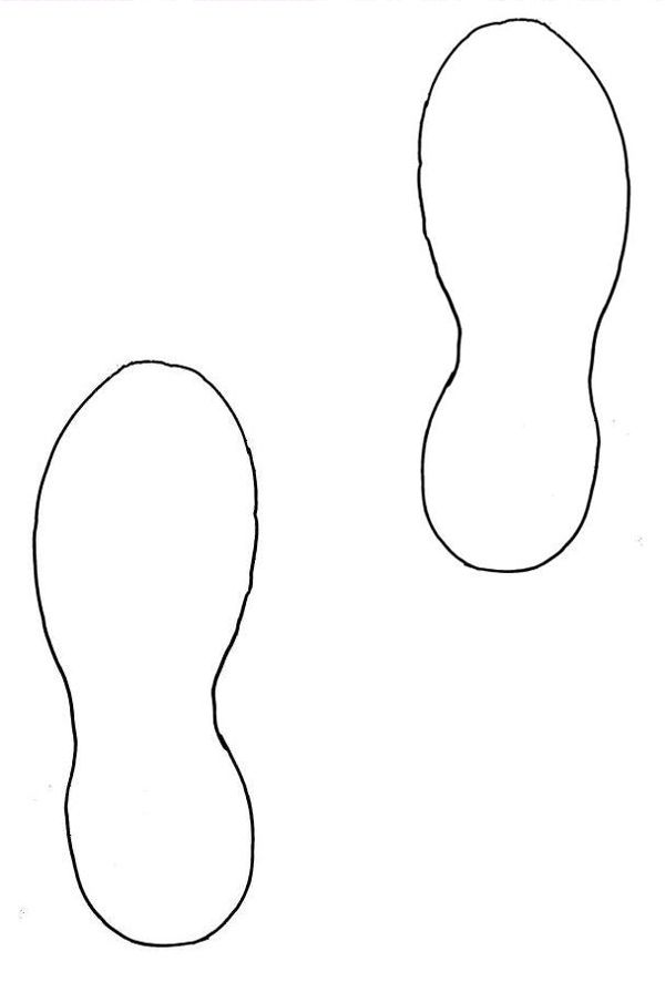 footprint cut out template running shoe print clipart classroom ideas pinterest