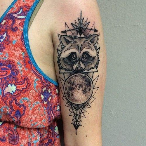 raccoon tattoo - Google Search