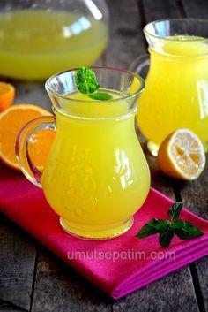 Bir portakal ve bir limon ile üç kilo limonata