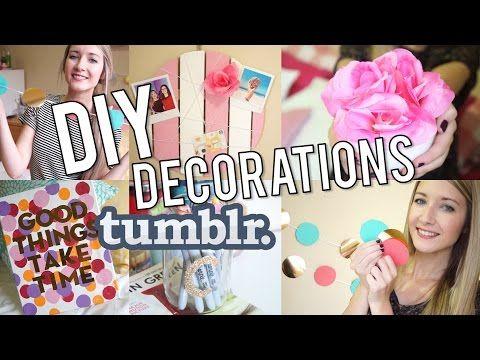 DIY | Décorations de chambre inspiration TUMBLR - YouTube