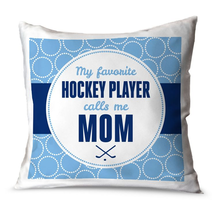 Hockey Throw Pillow My Favorite Hockey Player | ChalkTalkSPORTS