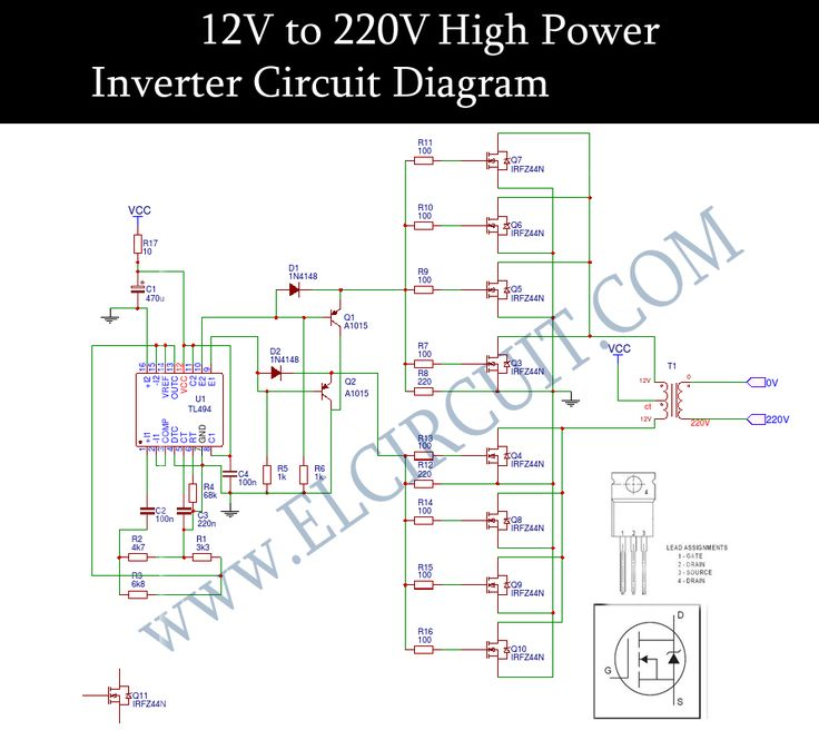 Circuit How To Build A Simplest Modified Sine Wave Power Inverter