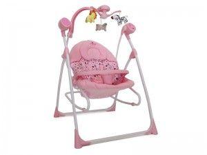 Leagan Electric pentru bebelusi - Swing Star Roz