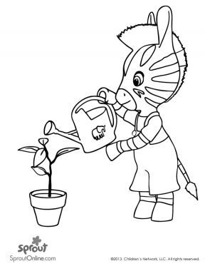 sprout coloring pages - photo#21