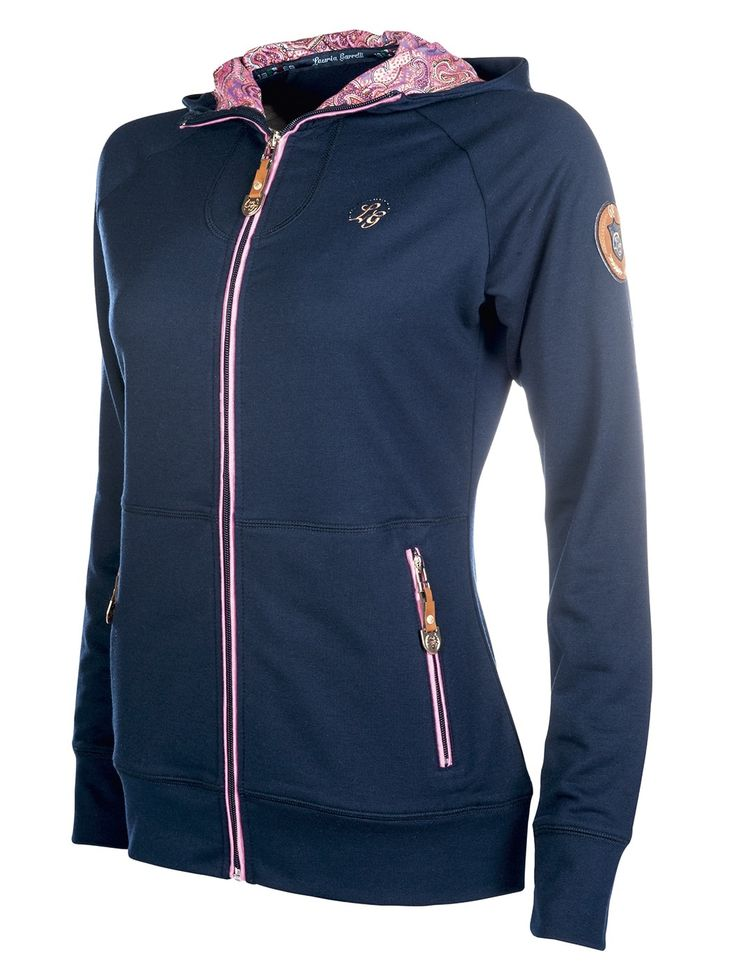 Love this hoodie from HKM Sports Equipment Lauria Garrelli range. It has a paisley print hood! The pink really stands out. Great as an extra layer during winter or as a summer jacket during the chilly summer nights! #jackets #hoodie #pink