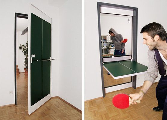 Pingpong Door, oh YES PLEASE!!!!Pong Doors, Ideas, Beer Pong, Games Room, Tables Tennis, Beerpong, Pingpong, Ping Pong Tables, House