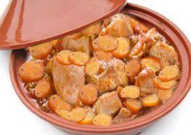 Tajine de poulet aux carottes, semoule au Cooking Chef