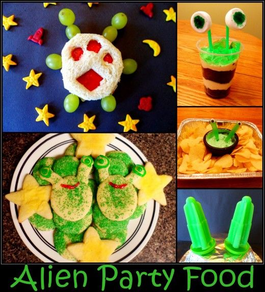 Serve your guests these fun alien themed party food and snack ideas.