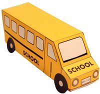 three dimensional bus paper craft for your kids