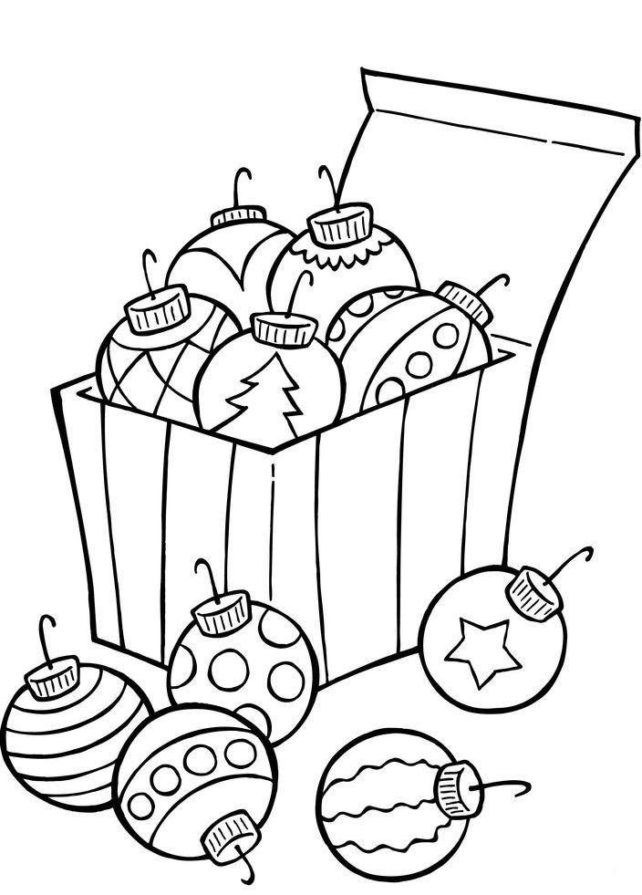 Christmas Ornaments Coloring Pages | Christmas ornament ...