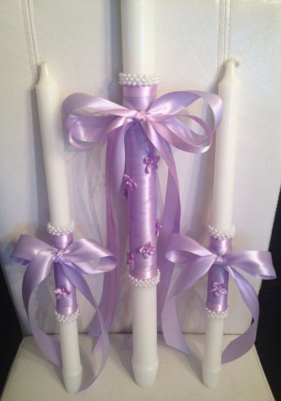 Orthodox Baptism Candle Set by ForKalotina on Etsy, $199.00