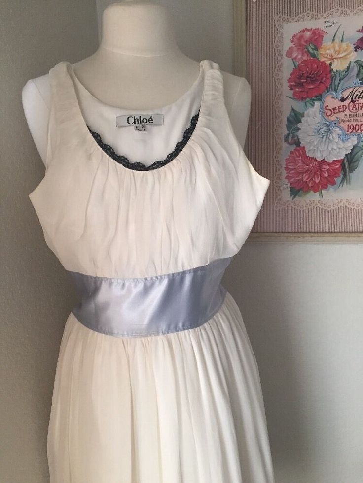 """Chloe Dress Size: US 4 Sold As Is Bust 32"""", Waist 28"""" Lined And Ephemeral #Chlo #TeaDress"""