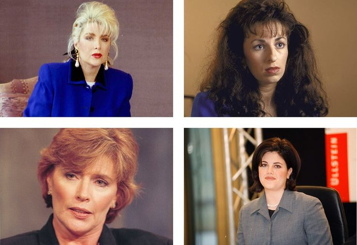 Clockwise from top left: Gennifer Flowers, Paula Jones, Monica Lewinsky, and Kathleen Willey.