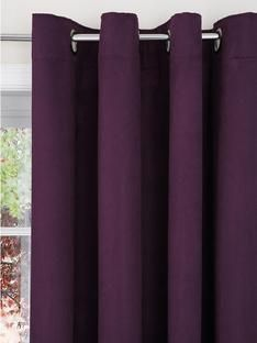 Purple Eyelet Curtains