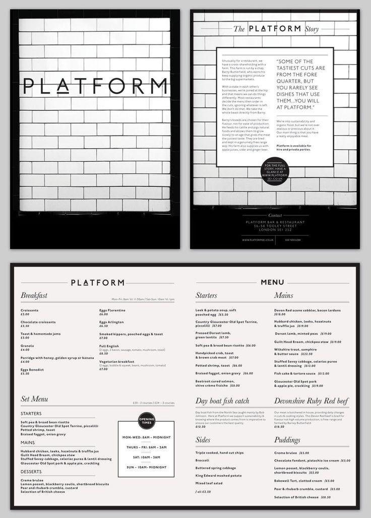 Platform Bar & Restaurant - Claire Hartley | Freelance Graphic Designer & Illustrator, Birmingham