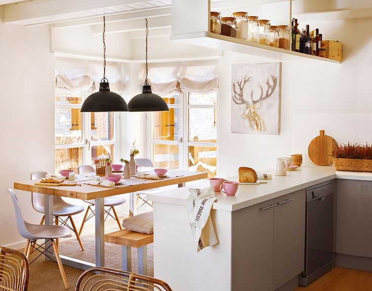 Claves para abrir la cocina al salón y ganar metros y luz