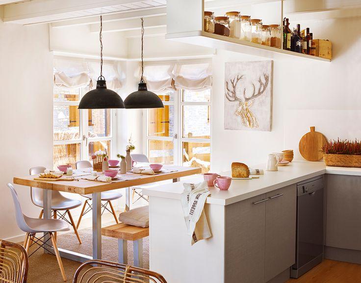 17 mejores ideas sobre estantes de la barra en pinterest for Cocina unida a salon