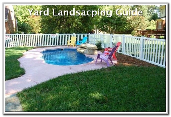 Improvised Your Landscaping With These Ideas Landscaping Lovers Inground Pool Landscaping Small Inground Pool Small Fiberglass Pools
