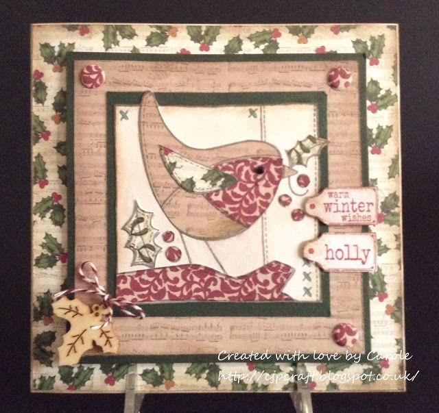 Woodware Stamps Robin