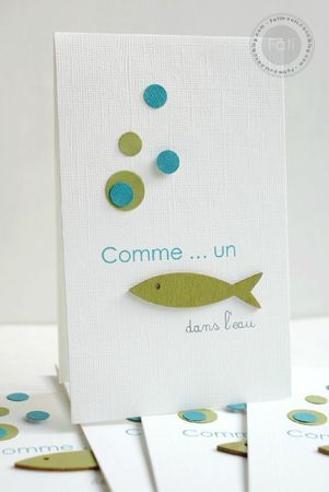 simple fish card. Try buttons for bubbles