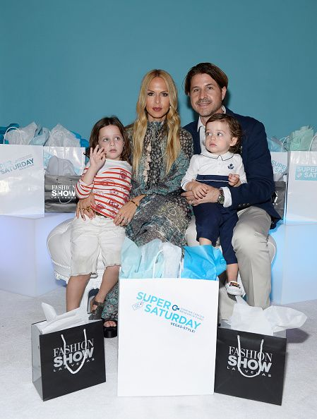 LR Designer stylist editor and author Rachel Zoe husband Rodger Berman and family attend the firstever OCRF Super Saturday event at Fashion Show Las...