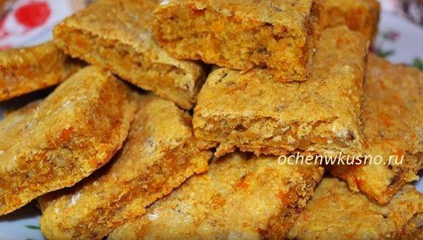 Тыквенное печенье с орехами и пряностями
