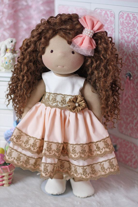Peaches & Cream Spring/Easter Dress for 18 inch dolls