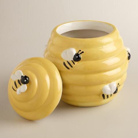 17 best images about bee stuff on pinterest brooches bumble bees and save the bees - Beehive cookie jar ...