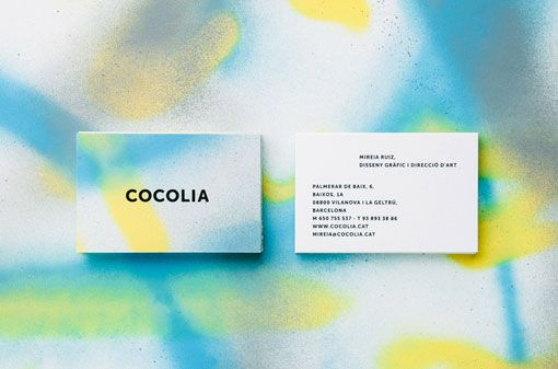 I'm loving these graffitied business cards that Barcelona-based studio Cocolia designed for themselves