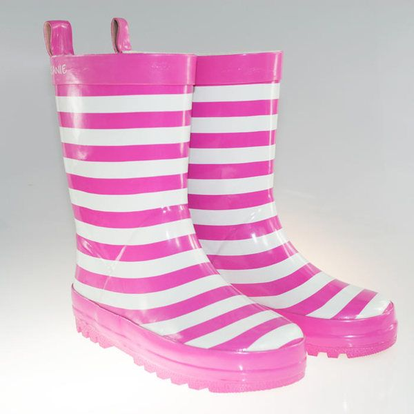 Skeanie Pink Stripe gumboots! Perfect for little feet! Only $29.95!
