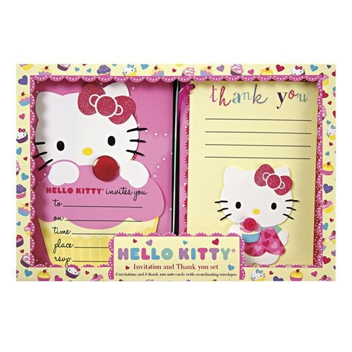 Hello Kitty Party Invitations and Thank You Notes by Beau-coup