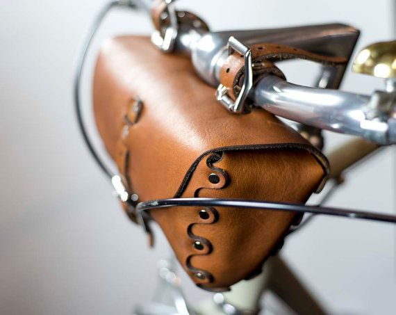 FULL GRAIN LEATHER BICYCLE BAG ................................................................................................................................ Construction time is 1-2 weeks. All products come with a lifetime warranty. Full warranty description in the policies tab.  We make everything here in the USA in our Portland, OR studio; hand-stitched and made-to-order to your custom specifications…