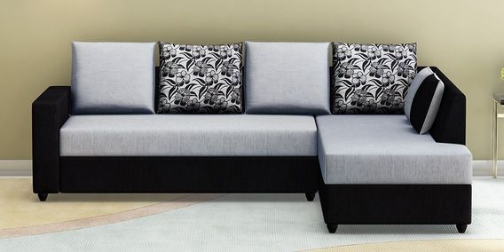 Buy Victoria Lhs Sofa In Grey Black Colour By Muebles Casa