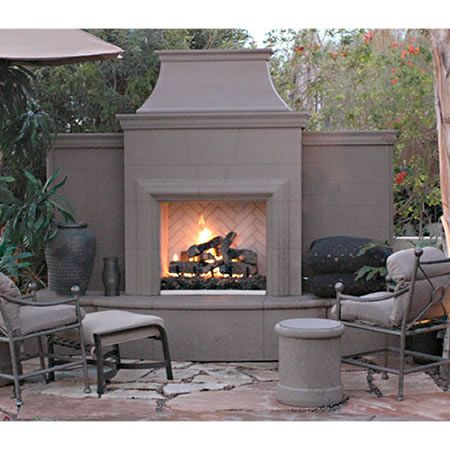 American Fyre Designs Grand Petite Cordova Outdoor Fireplace Woodlanddirect Com Outdoor Fireplaces