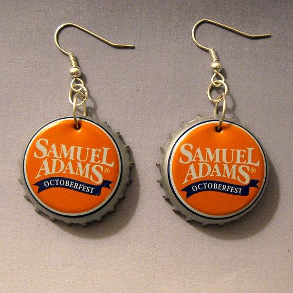 Samuel Adams Octoberfest Orange & Blue Recycled by FireWarpedGlass, $5.00