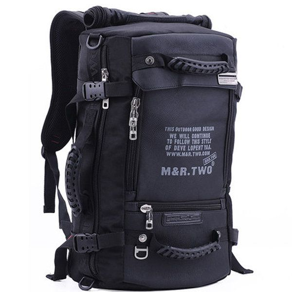 MRTWO Men Large Capacity Backpack Sport Travel Outdoor Bags Rucksack