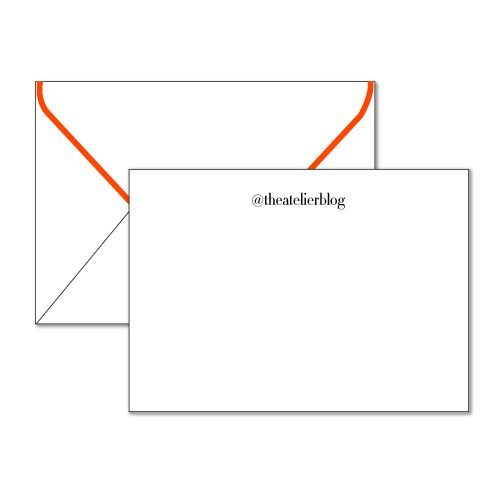 A must-have modern stationery set with a classic twist. Personalize it with your Twitter or Instagram handle.