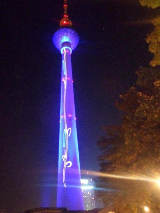 Fernsehen Turm Great during Festival of lights