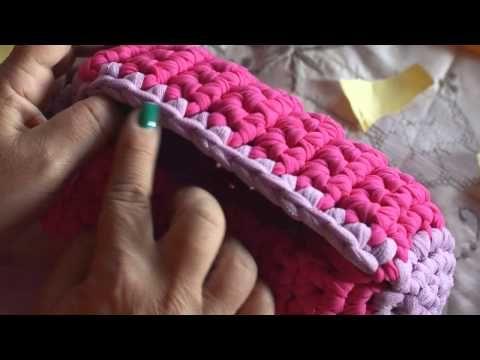 ▶ tutorial#6 parte 3 - Come realizzare borsa bauletto con fettuccia - YouTube