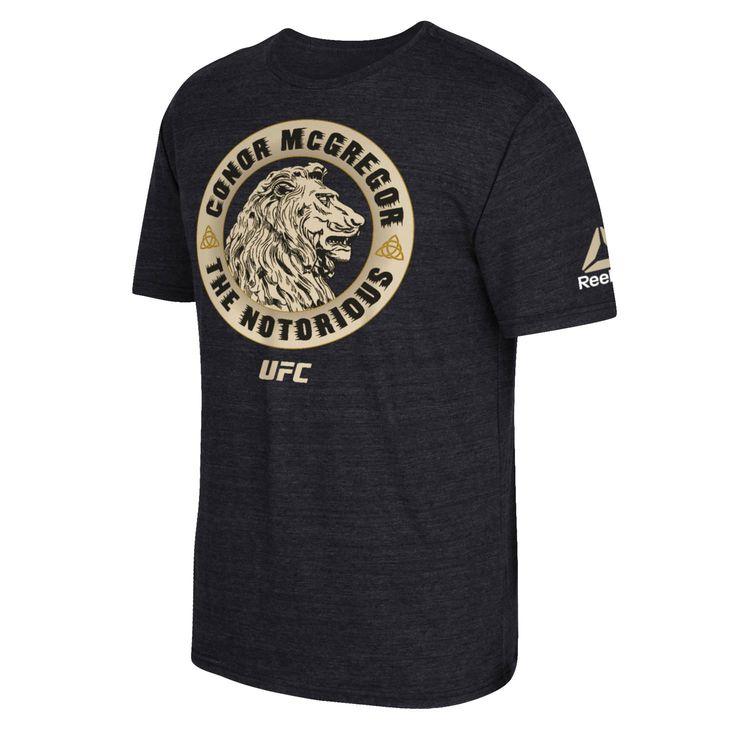 Conor McGregor Reebok UFC 202 The Lion Tri-Blend T-Shirt - Black - $27.99