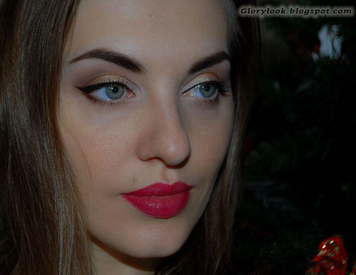 GLORYlook: Новогодний макияж 2016 #makeup #newyearevemakeup #redlips