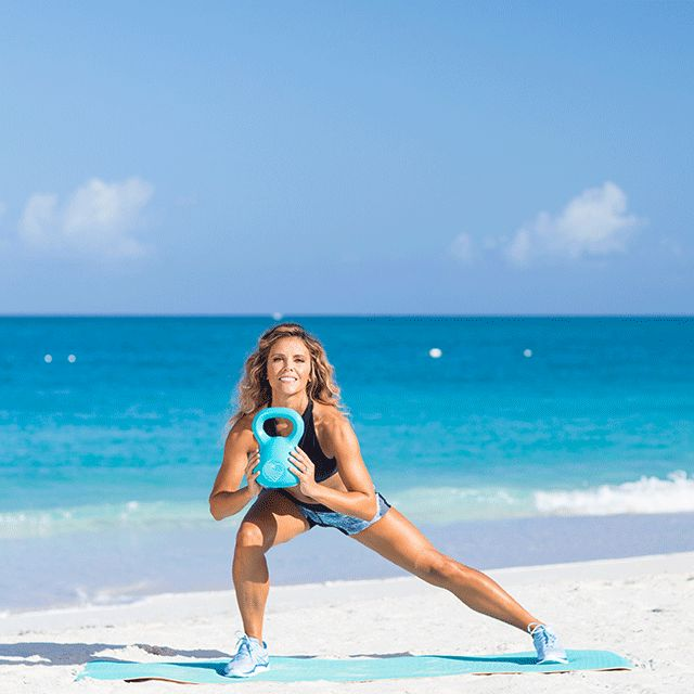 5. Side Lunge and Press  - Cosmopolitan.com