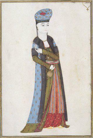 Ottoman Woman by Abdullah Buhari, 18th century, Istanbul University Library